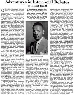 The REAL Story of the Wiley College Debate Team - Crisis Magazine, August, 1935 | Flickr - Photo Sharing!