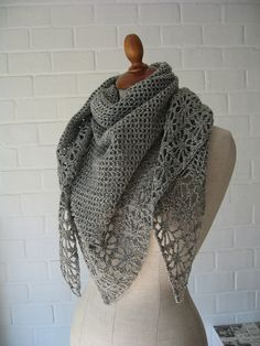 #Cashmere shawl free crochet