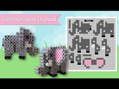 Cute 3D Perler Bead Elephant Pattern. Laceys Crafts is all about sharing super simple and adorable crafts for kids. Enjoy!