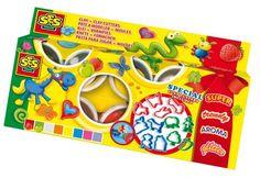CIASTOLINA miękka 8 ciastolin +12 foremek - zabawki kreatywne dla dziewczynek i dla chłopców