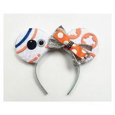 BB8 Star Wars Ears, BB8 Disney Inspired Ears, Star Wars Disney Ears,... ❤ liked on Polyvore featuring accessories, hair accessories, hair band accessories, head wrap headband, headband hair accessories, hair band headband and head wrap hair accessories