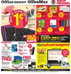 Office Depot Back to School Deals for this week, July 31st!