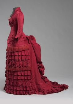 Dress ca. 1876 From the Philadelphia Museum of Art - Fripperies and Fobs