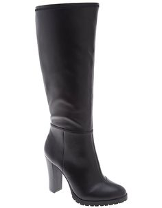 Stretch boot with lug heel by Lane Bryant | Lane Bryant