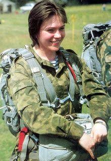 Beautiful russian women army seems
