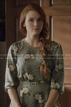 Lydia's green floral dress on Teen Wolf.  Outfit Details: http://wornontv.net/50585/ #TeenWolf