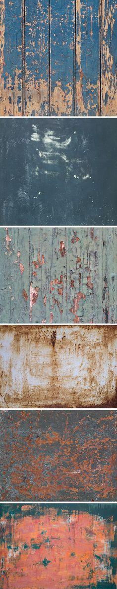 6 Weathered Textures Vol.2 | GraphicBurger