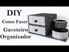 DIY: COMO FAZER um GAVETEIRO ORGANIZADOR com PAPELÃO e Tecido | Ideias Personalizadas - DIY - YouTube