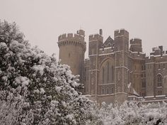 Arundel Castle snow Arundel Castle, Country Houses, Lighthouses, Norfolk, Castles, England, Snow, Places, Outdoor