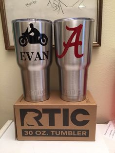 A personal favorite from my Etsy shop https://www.etsy.com/listing/265857745/superfast-rtic-monogrammed-tumbler-30-oz