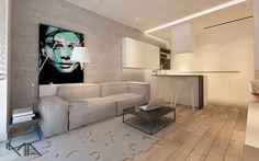 small flat Warsaw by MADAMA on http://roomreveal.com