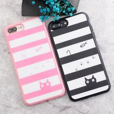 Cat Striped iPhone Case //Price: $8.99 & FREE Shipping //     #catdesign