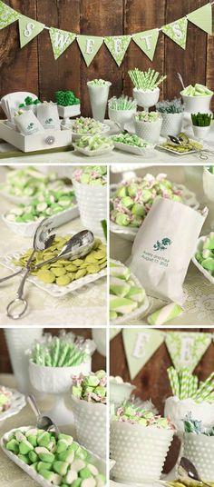 Candybar ganz in Grün