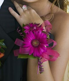 gerber daisy corsages   Gerbera Corsage – Corsages   Wrist Corsage   Wedding Corsages ...