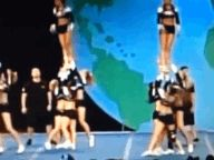 Are you kidding me?!? This girl needs to relearn how to be a back spot or find a new position!