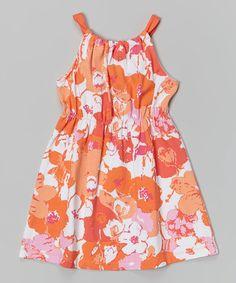 Orange Anna Dress - Toddler & Girls #zulily #zulilyfinds