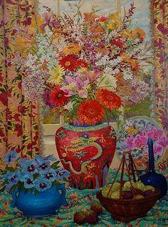 """Red Dragon Vase"" - John Powell"