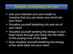 Afbeeldingsresultaat voor grounding exercise