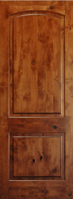 Beautiful Authentic Knotty Alder 2 Panel Arch Top Interior Doors Solid Wood X