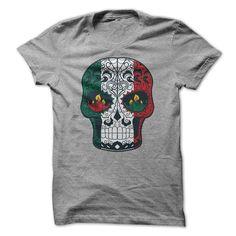 Mexican Flag Colored Sugar Skull T-shirt T Shirt, Hoodie, Sweatshirt