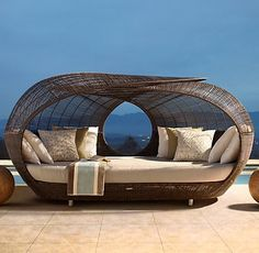 that's what I'm talking about! #furniture #daybed #wicker #outdoor future-homes