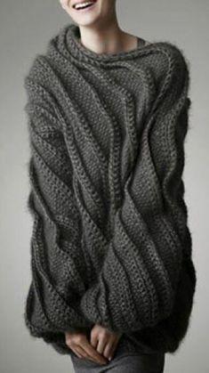 Sweater Knitting Patterns, Knitting Stitches, Knitting Designs, Knit Patterns, Hand Knitting, Knitwear Fashion, Knit Fashion, Fashion Fashion, Handgestrickte Pullover