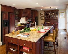 Granite Kitchen Countertops Gallery Design Ideas, Pictures, Remodel and Decor Cream Kitchen Cabinets, Best Kitchen Countertops, Kitchen Tops, Granite Kitchen, Kitchen Flooring, Granite Countertops, Ikea Kitchen Design, Kitchen Decor, Kitchen Ideas