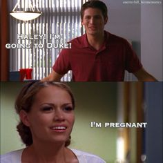 How to tell your husband you're pregnant the OTH way. Lol