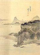 낙건정(樂健亭), 현재 행주대교 근처 고양시 덕양구 덕양산 자락에 있던 정자, 종이에 담채, 간송미술관
