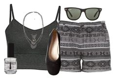 """""""☁️Cloudy☁️"""" by hollybeanrocks ❤ liked on Polyvore featuring maurices, BKE, Ray-Ban and Chanel"""