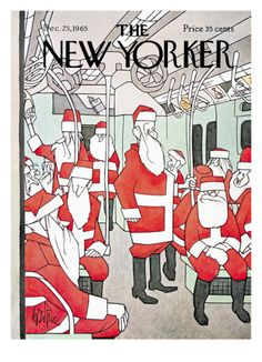 The New Yorker Cover - December 25, 1965 Giclee Print by George Price at Art.com