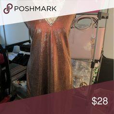 Shimmery plus size dress NWT rose gold shimmery dress Charlotte Russe Dresses Mini