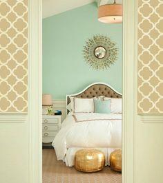 Sienna Beautiful Quatrefoil Four Leafs Clover  Moroccan inspired Modern  Designer allover Pattern Stencil for walls