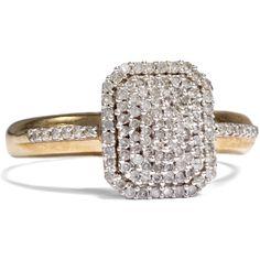 - Funkelnder vintage Diamant-Ring in Gold, um 2000 von Hofer Antikschmuck aus Berlin // #hoferantikschmuck #antik #schmuck # #antique #jewellery #jewelry // www.hofer-antikschmuck.de (21-0795)