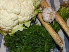 Kalafior kiszony | Stare Gary Spaghetti Squash, Cauliflower, Dinner, Vegetables, Food, Recipes, Dining, Cauliflowers, Food Dinners