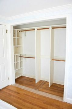 closet with no doors Diy Clothes Closet, Glam Closet, Curtains For Closet Doors, Bedroom Closet Doors, Master Closet, Bedroom Storage, Closet Designs, Small Closet Design, Small Closets