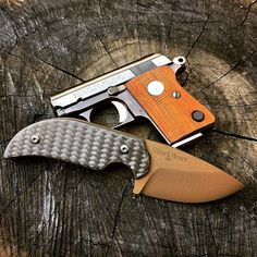 GunFanatics @BlackHeartKnives Mini Gunner with Mini Colt 25