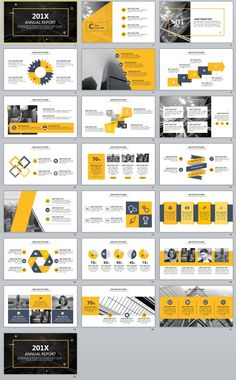 22+ Best yellow annual report PowerPoint templates