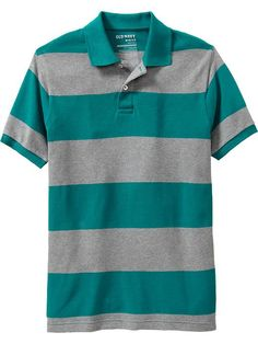Old Navy | Men's Striped Slim-Fit Pique Polos