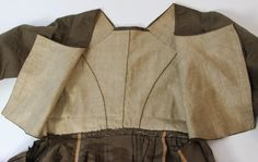 Eighteenth Century Greenish Brown Simple Silk Gown Drawstring Waistband C 1780 | eBay