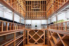 The wine cellar in a Utah ski chalet.