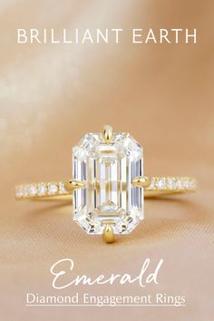 Looking for the perfect ring? Explore our collection ofengagement rings, ranging from classic to unique styles, set withBeyond Conflict Free Diamonds™. Emerald Cut Engagement, Engagement Ring Cuts, Pretty Rings, Beautiful Rings, Wedding Jewelry, Wedding Rings, Emerald Cut Diamonds, Dream Ring, Bling