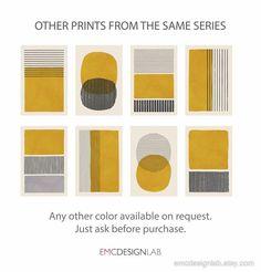 Abstract Wall Art, Abstract Print, Wall Art Sets, Wall Art Prints, Mustard Walls, Vintage Illustration, Grey Wall Art, Black Print, Yellow Print