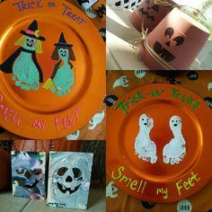 trick or treat, smell my feet -- super cute! Halloween Crafts For Kids, Halloween Activities, Fall Crafts, Happy Halloween, Halloween Decorations, Daycare Crafts, Classroom Crafts, Halloween Items, Holidays Halloween