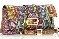 Baguette bag : a small, narrow, rectangular shape purse, resembling a French loaf of bread (baguette)  (Fabiola Lawandi FD1A1)