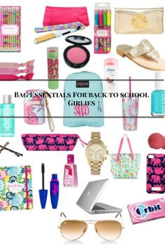 Bag Essentials for Back to School Girls!