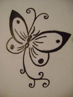 emo sketches and artwork | butterfly tattoo by colourful emo traditional art drawings ...