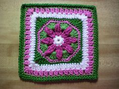 Ravelry: Octagon-framed Flower pattern by Leonie Morgan