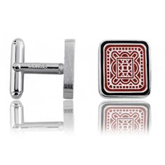 Boutons de manchettes acier rouge Kenzo Gatsy - Kenzo Kenzo, Money Clip, Cufflinks, Wallet, Accessories, Blue, Green, Red, Cuffs