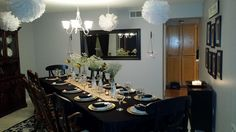 Nice décor Table for a Family and friends dinner.